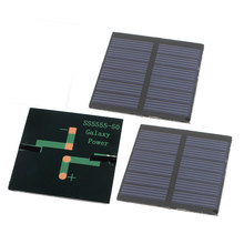 UXCELL 3 Pcs 3V 0.3W Diy Polycrystallinesilicon Solar Panel Power Cell Battery Charger 55Mm X 55Mm