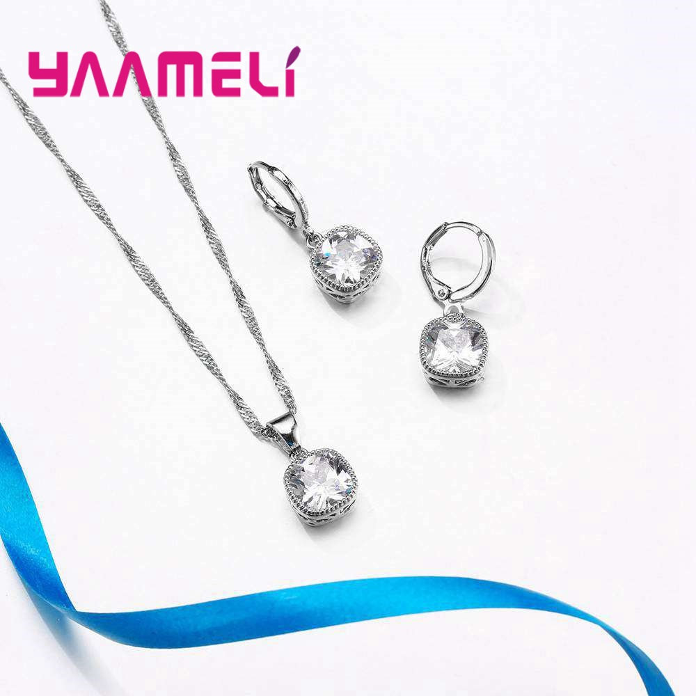 YAAMELI-High-End-Stylish-Women-Necklace-And-Earrings-925-Sterling-Silver-Jewelry-Set-With-Simple-Square (5)