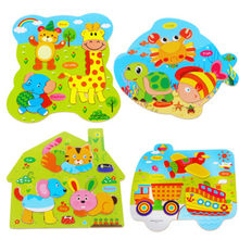 2017 New products starting jigsaw toys, wooden plywood,  3D jigsaw puzzle, children's early education puzzles