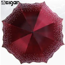 5 Color Pear Flower Blossom Parasol Beach Umbrella Folded Adult Lace Sun Umbrella Sunny Umbrella Rain Women(China)