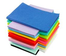 Non Woven Felt Fabric 1mm Thickness Polyester Cloth Felts for Sewing Dolls Crafts Kids Toys material(China)