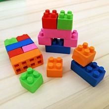 1 Pcs Creative Building Blocks Shape Eraser Kawaii Stationery Office School Correction Supplies Papelaria Child's Toy Gift(China)