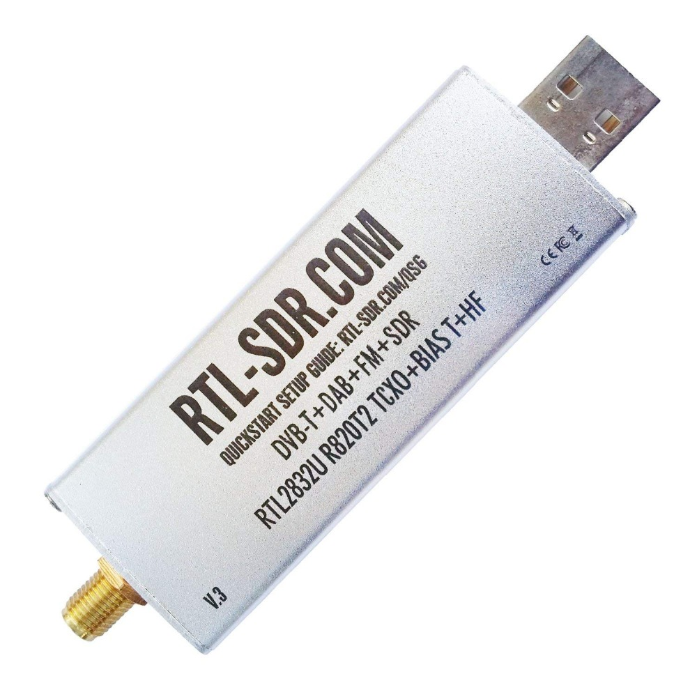 SMA Dongle-Only Software Defined-Radio RTL-SDR RTL2832U R820T2 1PPM TCXO V3 Blog title=