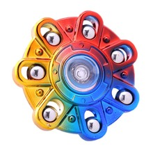 Buy Multicolor Colorful Metail Color 7 Beads Spinner Hand Toys Plastic EDC Spinner Fidget Autism Children Kids Toys for $1.77 in AliExpress store