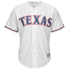MLB Youth Texas Rangers Baseball White Home Cool Base Jersey(China)