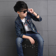 2pcs Boys Denim Jacket & Boys Jeans Clothing Set Boy Outerwear Denim Pant Boys Clothes for 3 4 6 8 10 12 13 Years Old RKS175002(China)