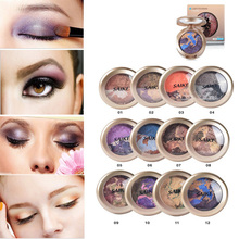 DoreenBeads Mineral Color Colorful Eye Shadow Magic Baking Powder Makeup Palette 5 cm, 1 PCs
