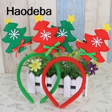 Adults Children Christmas Tree Headband Xmas Tree Headwear New Year Party Christmas Hair Hoop Accessories kids Christmas Gifts