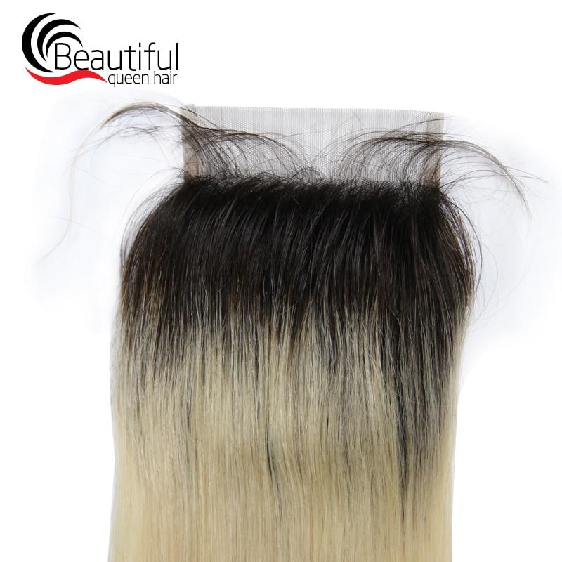 1b 613 straight closure human remy hair