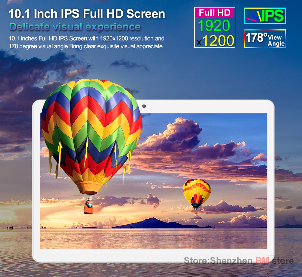 Original 10.1 Inch Tablets Pc Built-in 4G Phone Call Tablet PC Octa Core Android 6.0 4GB RAM 64GB ROM Phablet Dual SIM Card