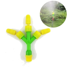 Multipurpose 3 Head Garden Water Sprayer Nozzle Lawn Orchard Cooling Watering Sprinkler Adjustable atomization nozzle(China)