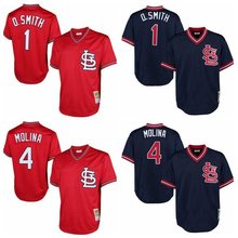 MLB Men's St. Louis Cardinals Yadier Molina Ozzie Smith jerseys(China)