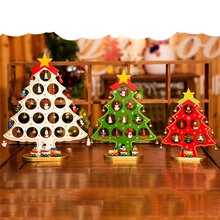 1pc 3 Sizes Wooden Artificial Christmas Tree Decorations Ornaments Wood Mini Christmas Trees Gift Ornament Table Decoration