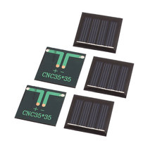 UXCELL 5 Pcs 2V 0.09W Diy Polycrystallinesilicon Solar Panel Power Cell Battery Charger 35Mm X 35Mm