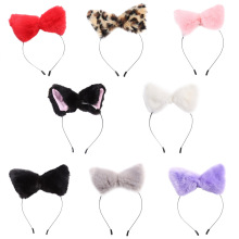 1 piece Fashion Girl Cute Cat Fox Ears HeadBands Long Faux-Fur Headwear Party Birthday Cosplay Hair Band Accessories 8 color