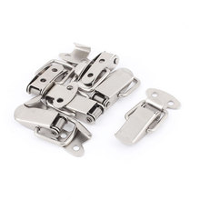 UXCELL 6Pcs Spring Loaded Metal Suitcase Chest Tool Boxes Locking Toggle Latch Hasp Lock