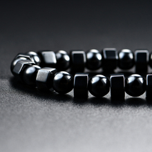 Men's Women's Black Strong Magnetic Therapy Hematite Beads Chakra Necklace Gift(China)
