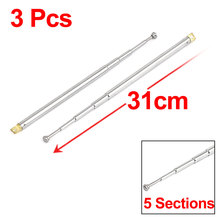 "UXCELL Product Name 3Pcs 12"" 31Cm Length 5 Sections Telescopic Antenna Aerial Mast For Rc Radio Controller antenna 
