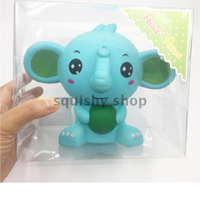 New Cartoon Elephant Ball Squishy Slow Rising Retail Box Jumbo 17CM Phone Straps Charms Scented Pendant Bread Kid Toy Gift Doll