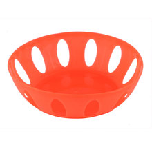 UXCELL Product Name Home Living Room Kitchenware Plastic Round Shaped Hollow Out Fruit Plate Basket Orange basket | fruit |