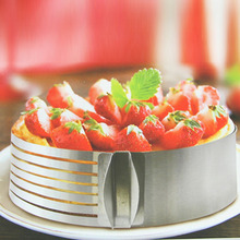 Retractable Stainless Steel Circle Mousse Cake Slicer Mold Cut Tools With Adjustable Ring For DIY Cooking Baking Mousse Pastry