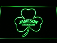 a215 Jameson Whiskey Shamrock LED Neon Sign with On/Off Switch 7 Colors 4 Sizes to choose