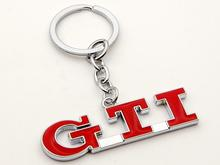 Red GTI Metal Key Chain Key Rings For VW Golf 3 Golf 5 Golf 6 GTI MK5 MK6 Accessories(China)
