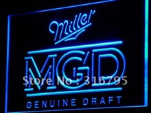 a142 Miller Genuine Draft MGD Beer Bar NEW Light Sign