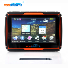 Fodsports 2017 Newest 256MB 8GB FM 4.3 Inch Waterproof IPX7 Bluetooth GPS Navigator for Motorcycle Installed Maps