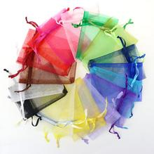 100PCS Rustic Romantic Wedding Favors and Gift Bags Organza Tiny drawstring Candy Bags candle Jewelry Package