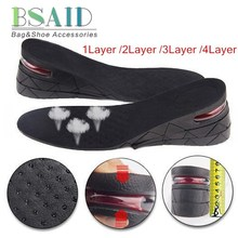 BSIAD 3-9cm Height Increase Insole Cushion Height Lift Adjustable Cut Shoe Heel Insert Taller Women Men Unisex Quality Foot Pads(China)