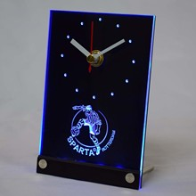 tnc1024 Sparta Rotterdam Eerste Divisie Netherlands Football 3D LED Table Desk Clock