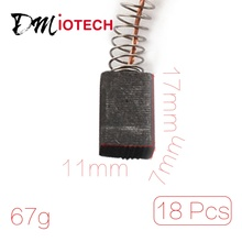 Dmiotech 9Pairs 17 X 11 X 7Mm Electric Motor Single Shunt Spring Carbon Brushes Power Tool For Rotary Hammer Drill(China)