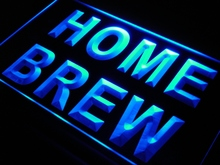 s199 Home Brew Beer Bar Pub Wine LED Neon Light Sign On/Off Switch 7 Colors 4 Sizes
