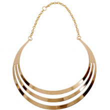 New Fashion 2017 Women Multilayer Statement Punk Necklace Charm Party Gold Color Luxury Neck Fit Choker Collar Necklaces