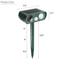 Solar Powered Repellent  Ultrasonic LED Flash Rat Dog Cat Fox Repeller Animal Garden Pest Reject Pest Control Tools Gear
