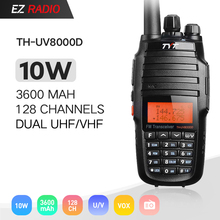 Upgrade Version Powerful Long Range 10W Cross Band VHF UHF TYT TH-UV8000D Amateur Radio Transceiver with 3600MAH Li-ion Battery