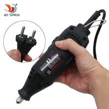QSTEXPRESS 230V 180W EU Plug for Variable Speed Electric Rotary Tool Mini Drill with Accessories