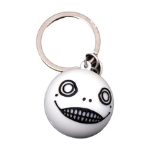 1 Pc Game Nier Automata silicone solid big face ball keychain emil Type B Heroine keyring Charm Jewelry Gift(China)