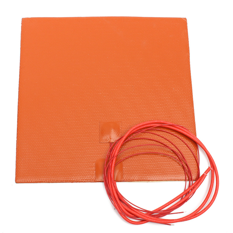 Waterproof Flexible Silicone Heating Pad Heated pad for 3D Printer Heating Fast And Thermal Conversion Efficiency High(China (Mainland))
