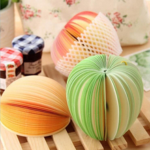 New Cute Fruit Shape Apple Pear Not Sticky Memo Pad Paper Note Office School Stationery(China)