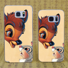 B0275 Bambi And Thumper Transparent Hard PC Case Cover For Samsung Galaxy S 3 4 5 6 7 Mini Edge Plus Note 3 4 5 7
