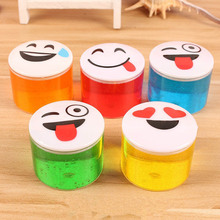 Baby Fun Toys Crystal Face Magnetic Colored Clay Mud Intelligent Hand Gum Plasticine Rubber Mud Gifts(China)
