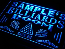 pj-tm Name Personalized Custom Billiards Pool Bar Room Neon Sign with On/Off Switch 7 Colors 4 Sizes