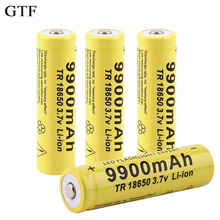 Gtf 4pcs 18650 Battery 3.7v 9900mah Rechargeable Li-ion Battery For Led Flashlight Torch Cell Battery