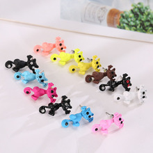 1 PC  New Arrival 3D imitation pearl Cat Cute Stud Earrings set for Women Girl 9 colors Free shipping