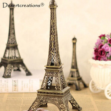 1Pc Creative Gifts 5-15cm Metal Art Crafts Paris Eiffel Tower Model Figurine Zinc Alloy Statue Travel Souvenirs Home Decorations(China)