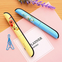 Creative Pen Design Student Safe Scissors Paper Cutting Art Office School Supply With Cap Kids Stationery DIY Tool COLOR RANDOM