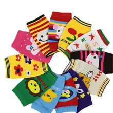 Baby Boys Girls Knee Pads Kids Infant Bow Soft Legging Cotton Cartoon Warmers Legs Knee Pads Children Accessories 0-3Y