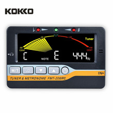 KOKKO FMT-206RC Chromatic Electric Bass Guitar Metronome and Tuner Combo for Musical Instruments Guitarra Violin Ukulele Parts(China)